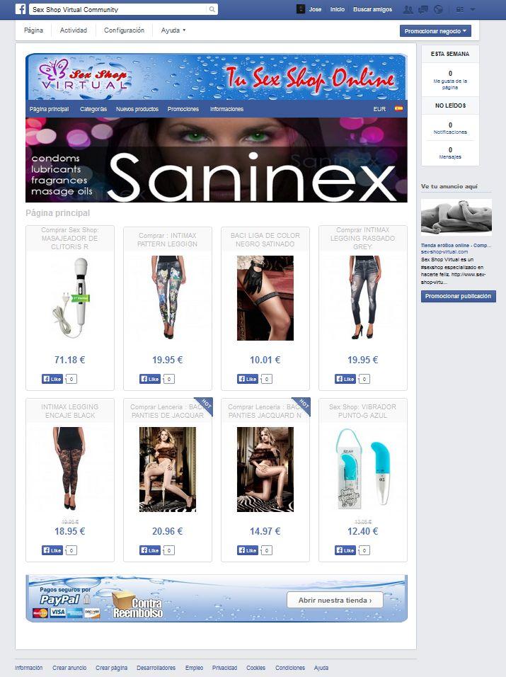 sex shop en facebook