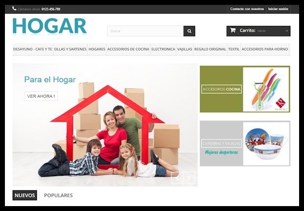 Crear tienda online de Hogar por Dropshipping