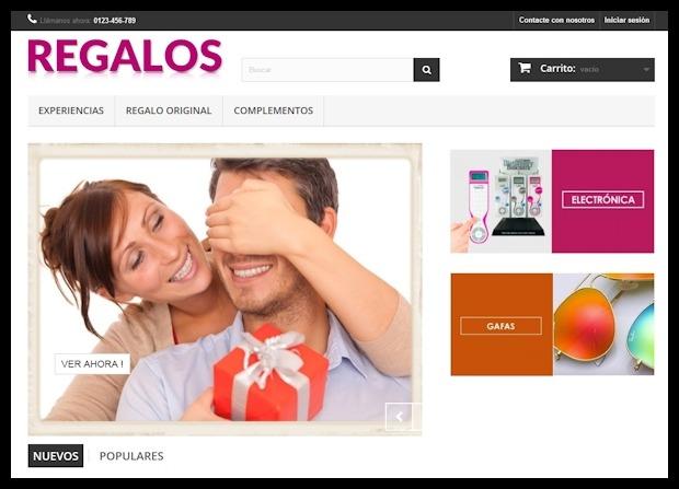 Crear tienda online de Regalos por Dropshipping