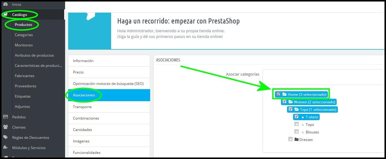 Configurar página de Inicio en Prestashop 1.6