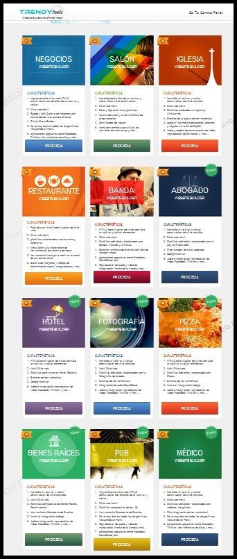 Trendy Tools: Sistema visual de creación Web en HTML5