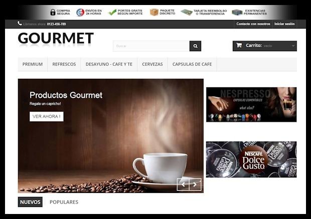 Crear tienda online Gourmet por Dropshipping